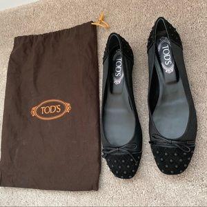 TOD'S Black Ballet Flat